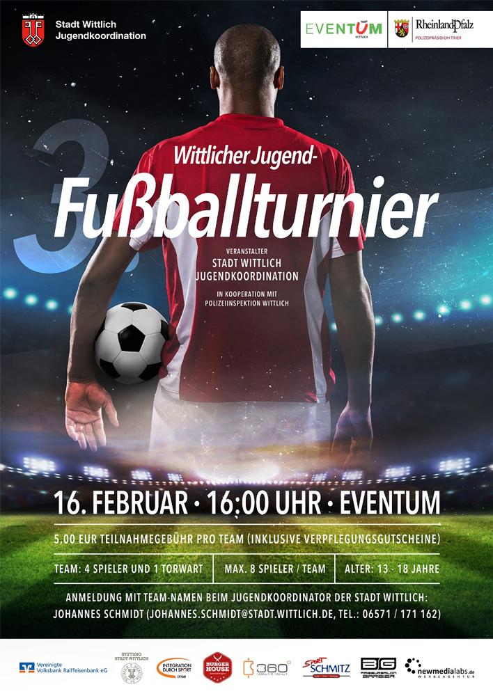 Fußballturnier-Poster